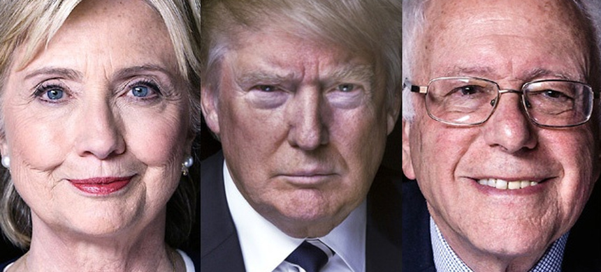 Hillary Clinton, Donald Trump, and Bernie Sanders. (photo: Reuters)