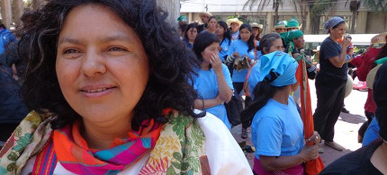 Berta Caceres was murdered early Thursday morning by unknown assailants. (photo: teleSUR)