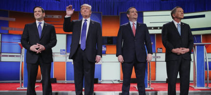 The Republican debate in Detroit, Michigan. (photo: Chip Somodevilla/Getty Images)