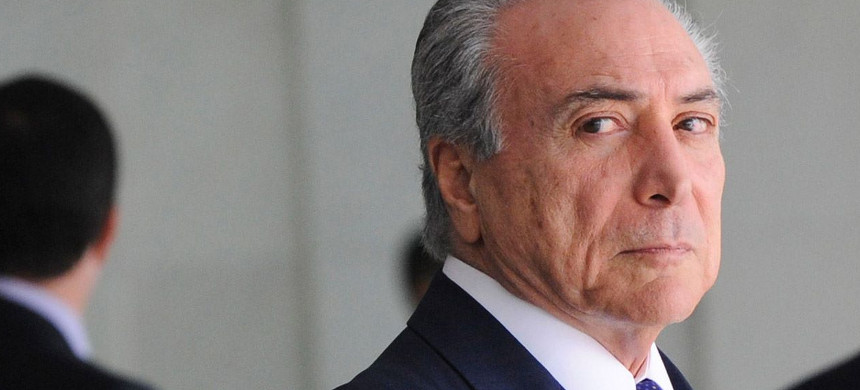 Interim president of Brazil Michel Temer. (photo: AP)