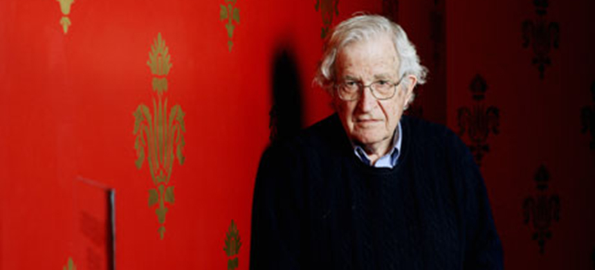 Noam Chomsky. (photo: Graeme Robertson)