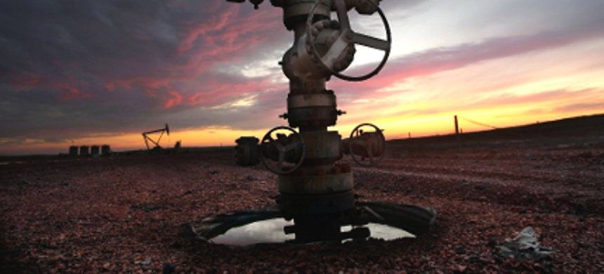 A capped oil well. (photo: David Samson/The Forum)