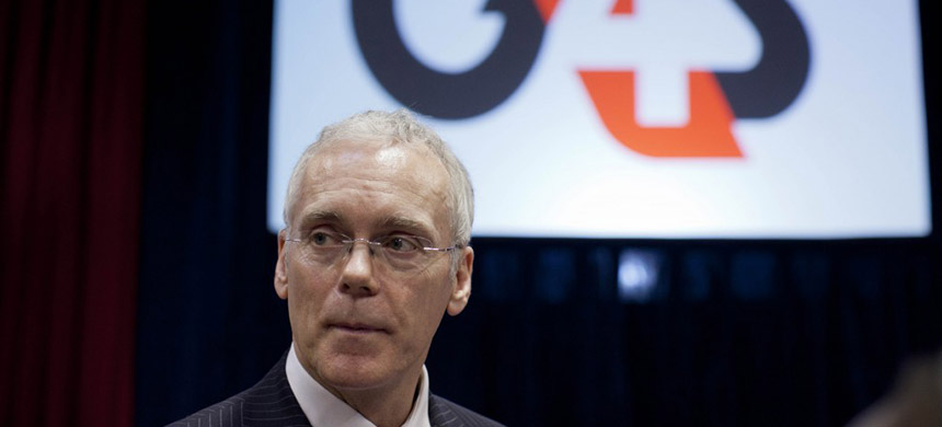 Mark Hamilton, the managing director of security personnel for the G4S security company. (photo: Matt Dunham/AP)