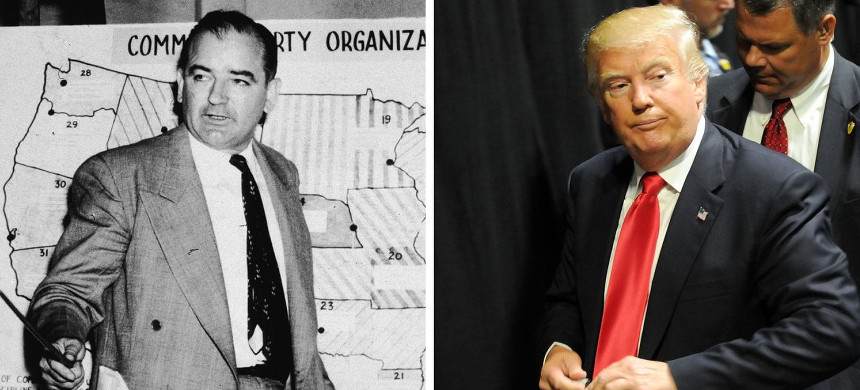 Joseph McCarthy and Donald Trump. (photo: Gerardo Mora/Getty)
