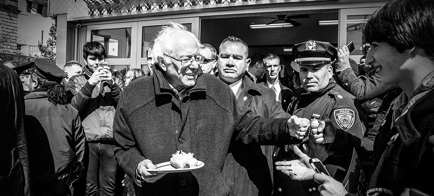 Bernie Sanders. (photo: Mark Peterson/Redux)