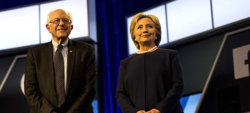 Bernie Sanders and Hillary Clinton. (photo: Getty Images)