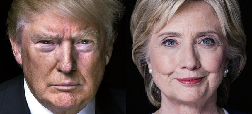 Hillary Clinton and Donald Trump. (photo: Getty Images)