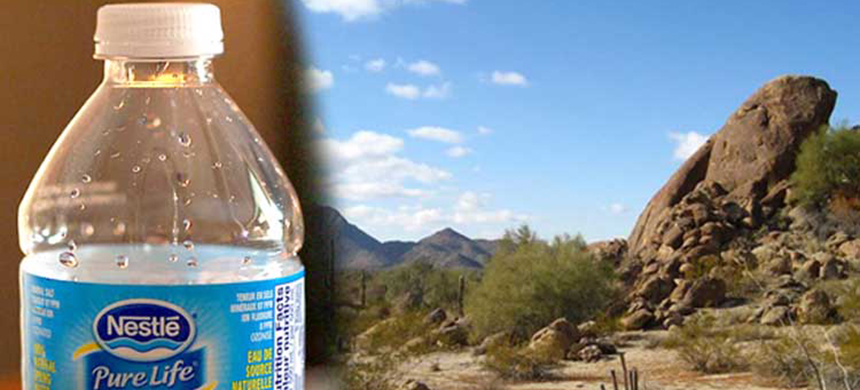 Arizona's capital, in the midst of an epic drought, could be home to Nestlé's newest water bottling plant. (photo: EcoWatch)