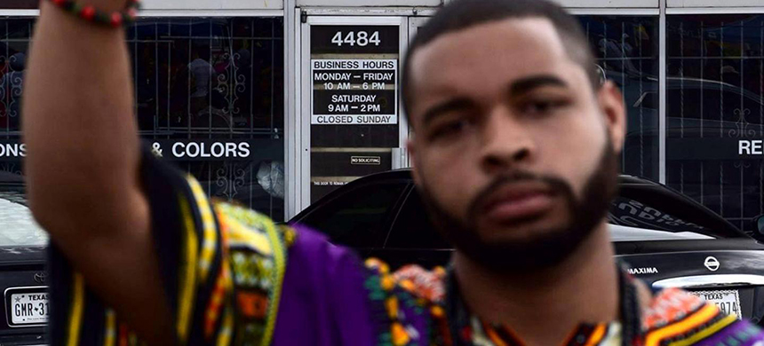 Micah Xavier Johnson, the mass shooter killed by a Dallas Police robot, in a photo from his Facebook page. The deployment of a robot bomb in Dallas on July 7 was the first time American police officers have used a robot to kill someone. (photo: Micah X. Johnson/Facebook/Reuters)