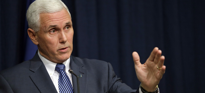 Trump's VP pick Indiana governor Mike Pence. (photo: Michael Conroy/AP)