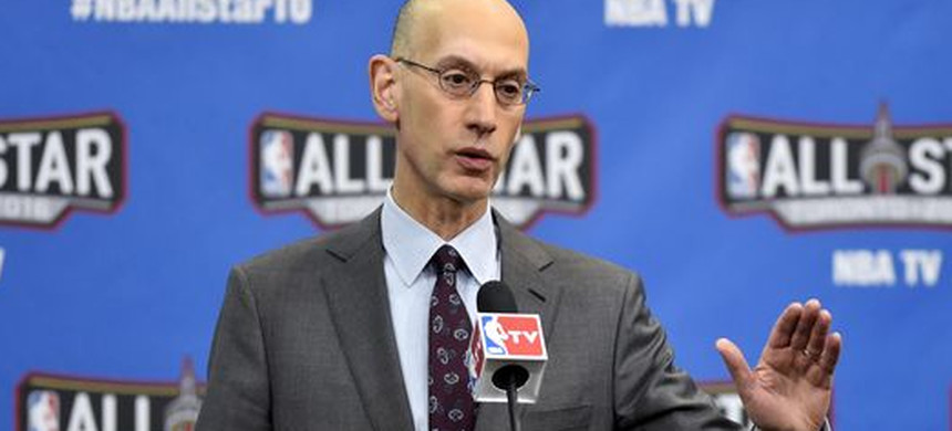 NBA commissioner Adam Silver. (photo: Bob Donnon/USA TODAY)