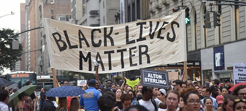 Black Lives Matter protest. (photo: Getty)