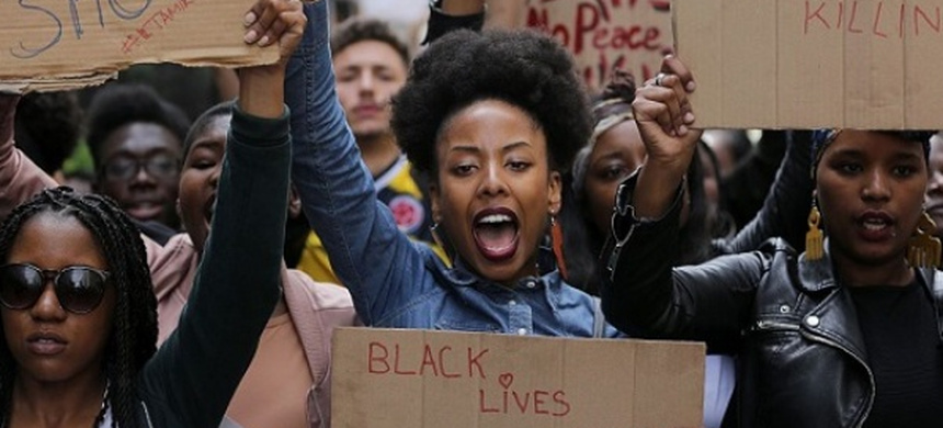 Black Lives Matter protesters. (photo: AFP)