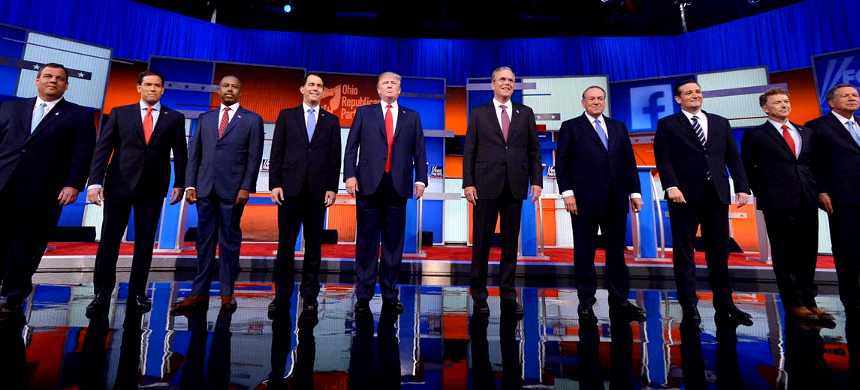 A Republican debate in Detroit, Michigan. (photo: Chip Somodevilla/Getty Images)