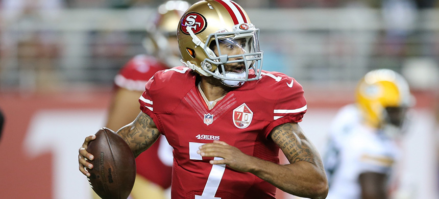 Colin Kaepernick. (photo: Peter Joneleit/Cal Sport Media/AP Images)