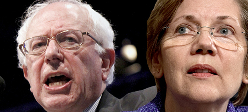 Bernie Sanders and Elizabeth Warren. (photo: Salon)