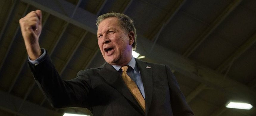 Ohio Governor John Kasich. (photo: Brendan Smialowski/Getty)