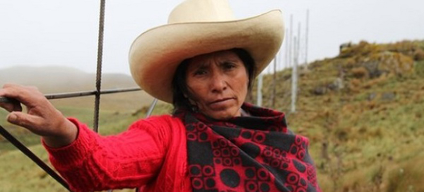 A subsistence farmer in Peru's northern highlands, Maxima Acuna de Chaupe stood up for her right to peacefully live off her own land. (photo: 2016 Goldman Environmental Prize)