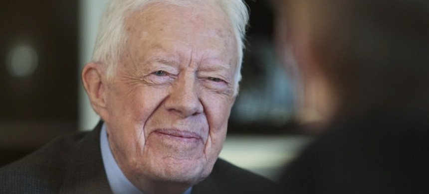 Former US President Jimmy Carter. (photo: Bebeto Matthews/AP)