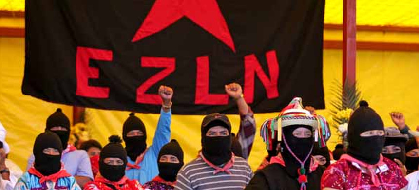 Zapatistas observe the 20th anniversary of the 1994 rebellion on January 20. (photo: Dan La Botz)