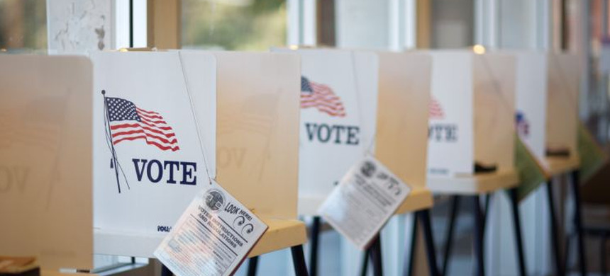 Voting booths. (photo: AP)