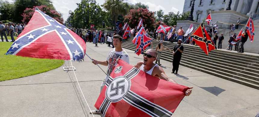 A neo-Nazi rally. (photo: Erik S. Lesser/EPA)
