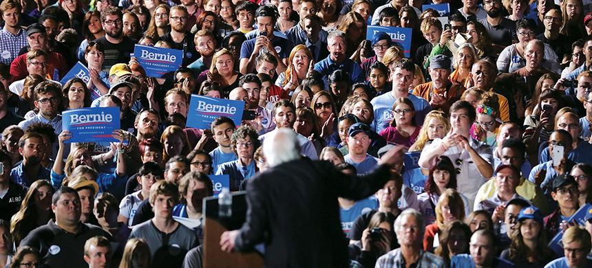 A Sanders rally in September, 2015. (photo: Chip Somodevilla/Getty Images)