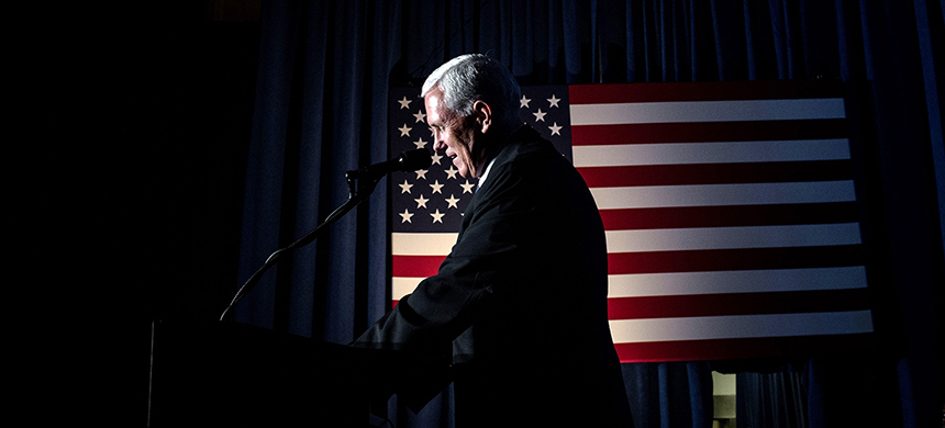 Mike Pence. (photo: Cengiz Yar/AFP/Getty Images)