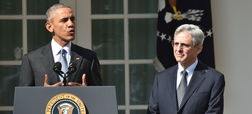 President Obama with his Supreme Court nominee Merrick Garland. (photo: Chip Somodevilla/Getty)