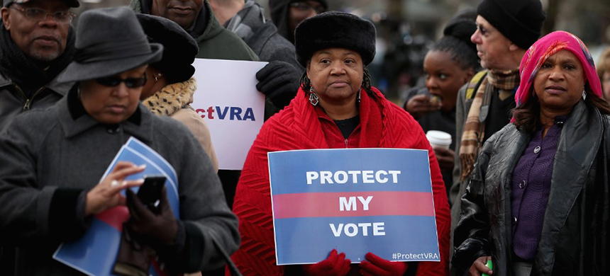 Voting rights. (photo: Chip Somodevilla/Getty Images)