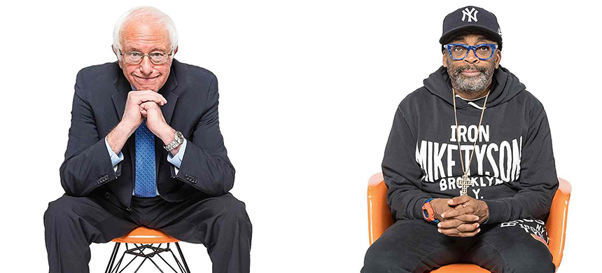 Senator Bernie Sanders and Spike Lee. (photo: Christopher Lane/Guardian UK)