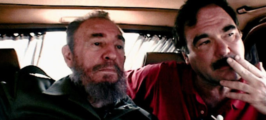 Oliver Stone and Fidel Castro in 2002. (photo: Comandante)