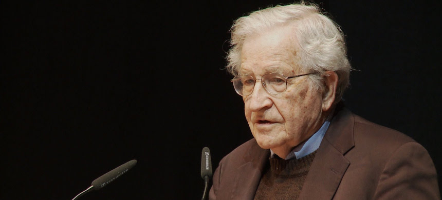 Noam Chomsky. (photo: Center for Art and Media Karlsruhe)