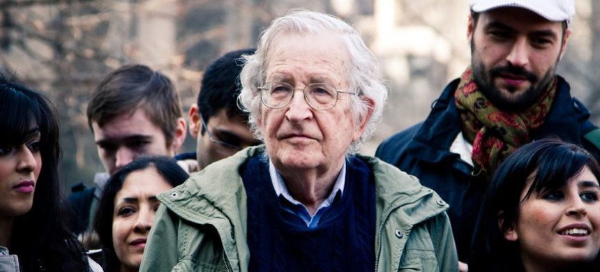 Noam Chomsky at Occupy Boston. (photo: Andrew Rusk/Flickr)