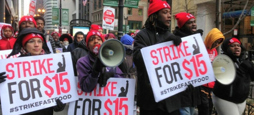 Fight for $15 demonstrators. (photo: SEIU)