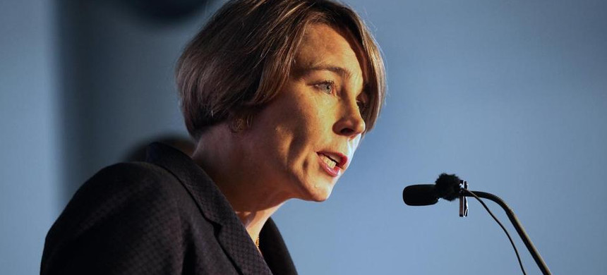Maura Healey is among state attorneys general who are investigating Exxon Mobil and climate change. (photo: The Boston Globe)