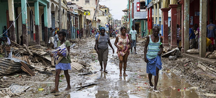 Les Cayes, Haiti, after Hurricane Matthew in October 2016. (photo: United Nations Photo/Flickr)