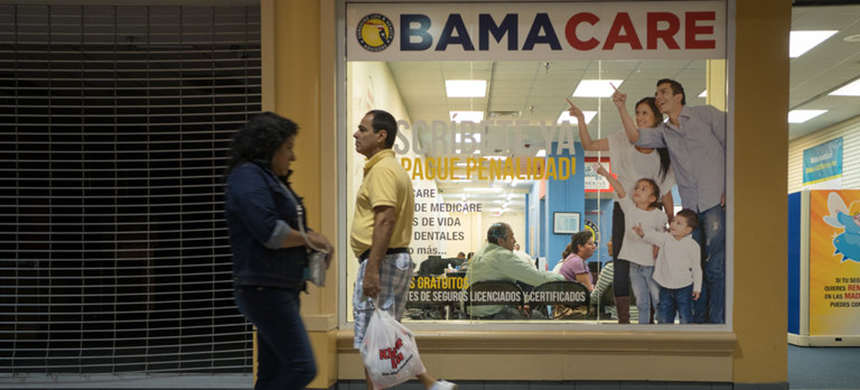The offices of Sunshine Health and Life Advisors inside a Miami mall. The company's customers are worried about changes to the Affordable Care Act promised by President-elect Donald J. Trump. (photo: Angel Valentin/NYT)