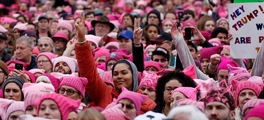 Saturday's Women's March on Washington attracted over half a million people. (photo: Shannon Stapleton/Reuters)
