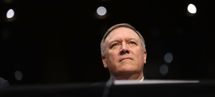 Pompeo at his confirmation hearing on January 12, 2017, in Washington, D.C. (photo: Joe Raedle/Getty Images)