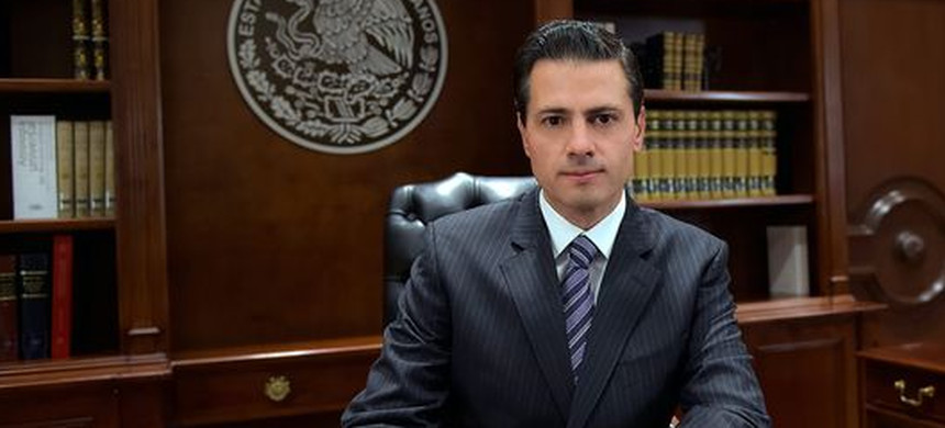 President of Mexico Enrique Peña Nieto during a television broadcast in Mexico City, Mexico, on Jan. 25, 2017. (photo: EPA)