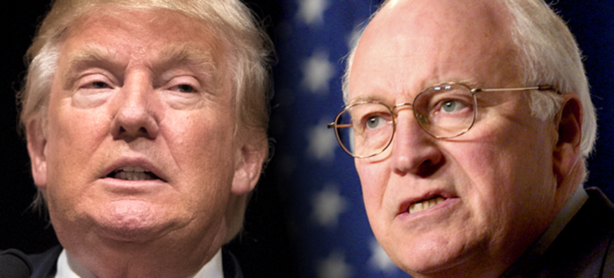 Donald Trump and Dick Cheney. (photo: Reuters/Scott Morgan/Chip East/Salon)