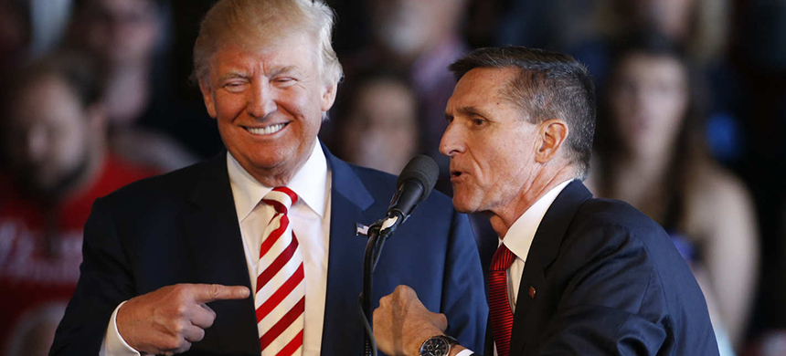 President Trump and Michael Flynn during the campaign. (photo: George Frey/Getty Images)