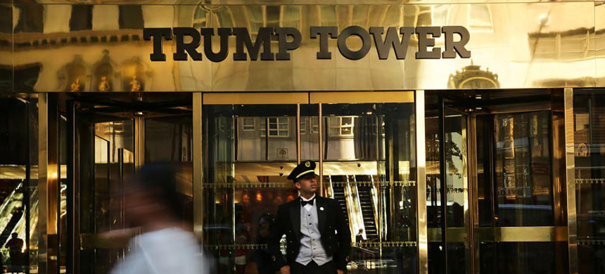 The Doorman in front of Trump tower. (photo: Spencer Platt/Getty)