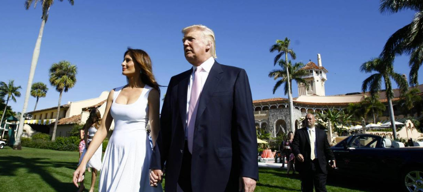 Donald Trump and Melania Trump. (photo: WSJ)