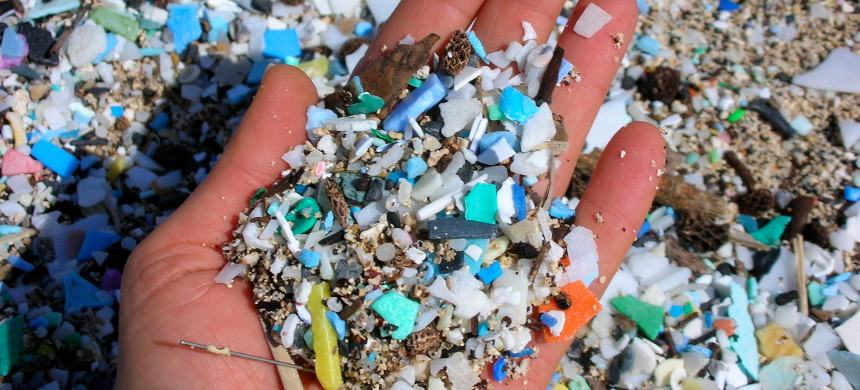 A handful of microplastic. (photo: EMA)