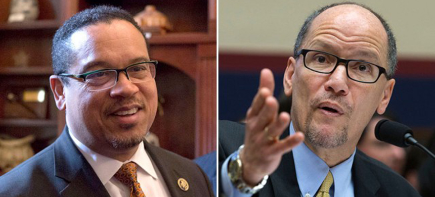 Keith Ellison and Tom Perez. (photo: Getty Images)