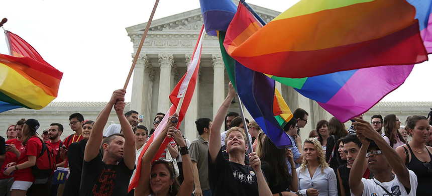 Even after the Supreme Court legalized same-sex marriage, there have been efforts to pass a religious freedom bill. LGBTQ rights advocates believe lawmakers anticipate support from the Trump administration. (photo: Alex Wong/Getty Images)