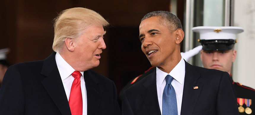 President Trump believes Obama is behind the many leaks within his administration and responsible for the angry Americans confronting Republicans at town hall meetings. (photo: Jim Watson/AFP/Getty Images)