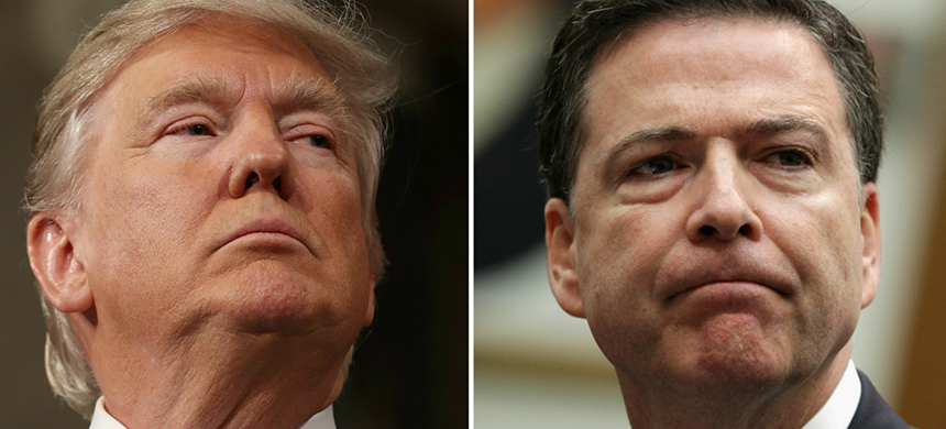 Donald Trump, James Comey. (photo: Getty Images)